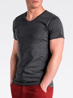 Juodi vienspalviai vyriški marškinėliai internetu pigiau S1041 13225-2