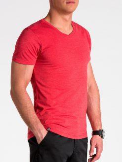 Vienspalviai koraliniai marškinėliai vyrams internetu pigiau S1041 13227-4