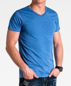 Mėlyni vienspalviai vyriški marškinėliai internetu pigiau S1041 13228-1