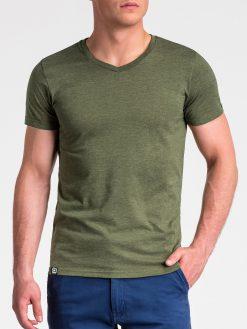 Žali vienspalviai vyriški marškinėliai vyrams internetu pigiau S1041 13229-4