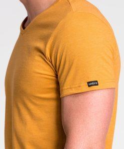 Vienspalviai geltoni vyriski marskineliai vyrams internetu pigiau S1041 13230-1