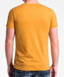 Vienspalviai geltoni vyriski marskineliai vyrams internetu pigiau S1041 13230-2