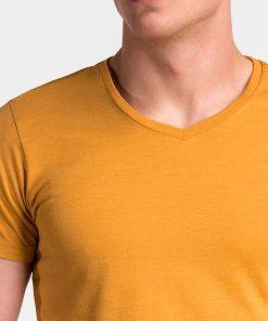 Vienspalviai geltoni vyriski marskineliai vyrams internetu pigiau S1041 13230-4