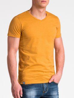 Vienspalviai geltoni marškinėliai vyrams internetu pigiau S1041 13230-5