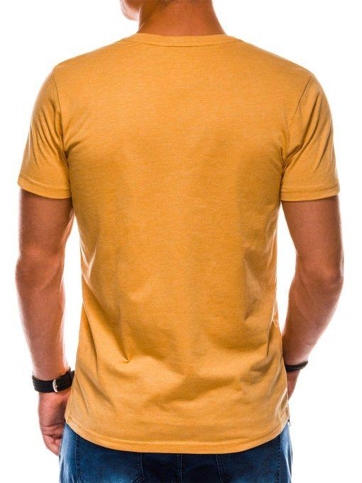Geltoni vienspalviai marskineliai vyrams internetu pigiau S1042 13234-4