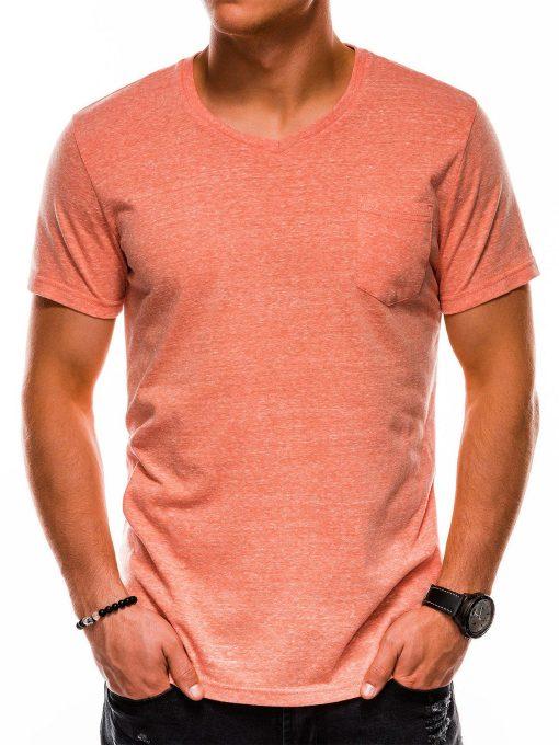 Oranžiniai vienspalviai marškinėliai vyrams internetu pigiau S1045 13238-1