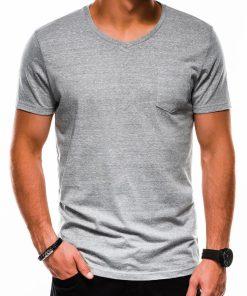 Pilki vienspalviai marškinėliai vyrams internetu pigiau S1045 13239-3