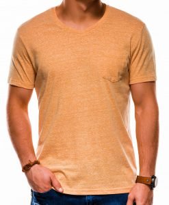 Geltoni vienspalviai marškinėliai vyrams internetu pigiau S1045 13240-1