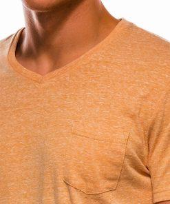Geltoni vienspalviai vyriški marškinėliai internetu pigiau S1045 13240-3