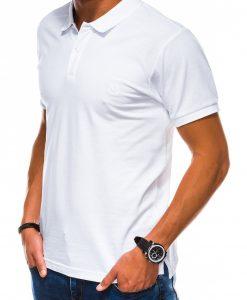 Balti polo marškinėliai vyrams internetu pigiau S1048 13241-3