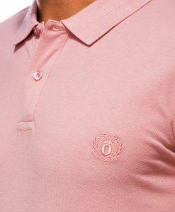 Šviesiai oranžiniai vyriški polo marškinėliai internetu pigiau S1048 13242-1