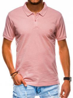 Šviesiai oranžiniai polo marškinėliai vyrams internetu pigiau S1048 13242-2