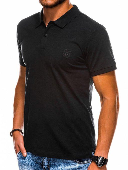 Juodi vyriški polo marškinėliai internetu pigiau S1048 13243-1