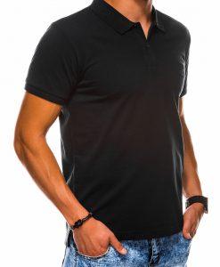 Juodi polo marškinėliai vyrams internetu pigiau S1048 13243-2