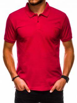 Raudoni polo marškinėliai vyrams internetu pigiau S1048 13244-1