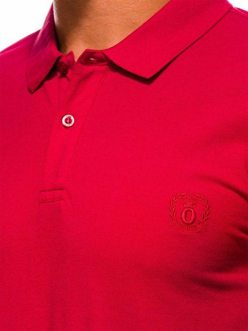 Raudoni vyriški polo marškinėliai internetu pigiau S1048 13244-4