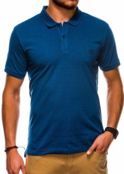 Tamsiai mėlyni vyriški polo marškinėliai internetu pigiau S1048 13245-3