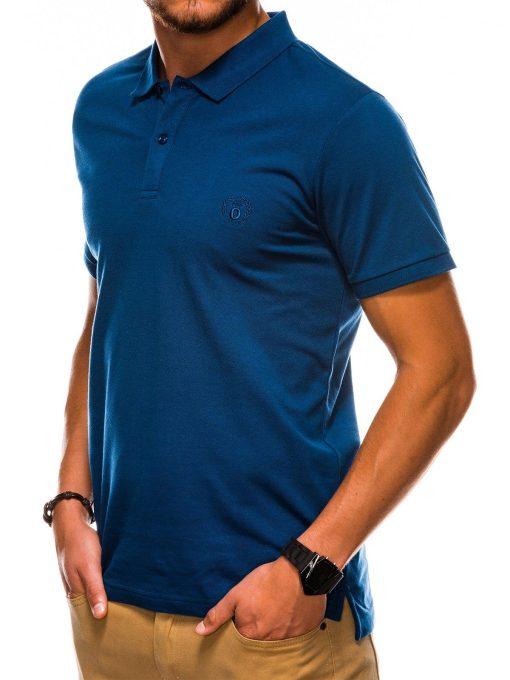Tamsiai mėlyni polo marškinėliai vyrams internetu pigiau S1048 13245-4