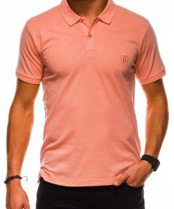Koraliniai polo marškinėliai vyrams internetu pigiau S1048 13246-1