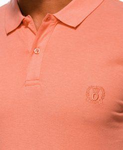 Koraliniai vyriški polo marškinėliai internetu pigiau S1048 13246-4