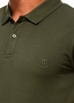 Chaki vyriški polo marškinėliai internetu pigiau S1048 13248-2