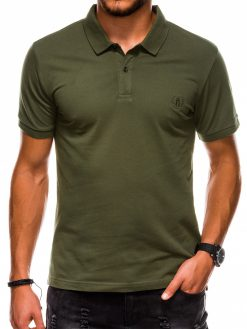 Chaki polo marškinėliai vyrams internetu pigiau S1048 13248-3