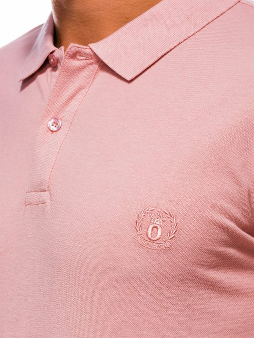 Šviesiai rožiniai vyriški polo marškinėliai internetu pigiau S1048 13249-1