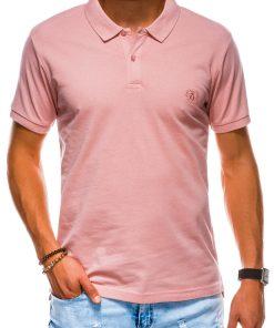 Šviesiai rožiniai polo marškinėliai vyrams internetu pigiau S1048 13249-2