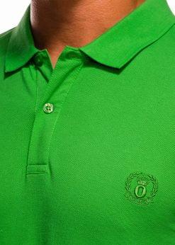 Žali polo marškinėliai vyrams internetu pigiau S1048 13251-1