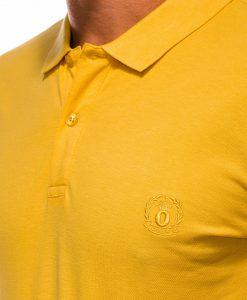 Geltoni polo marškinėliai vyrams internetu pigiau S1048 13252-1