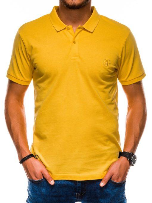Geltoni polo marskineliai vyrams internetu pigiau S1048 13252-2