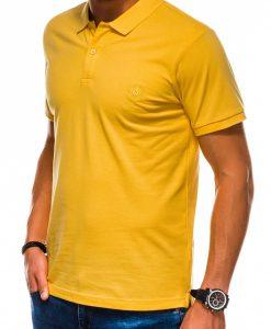 Geltoni vyriški polo marškinėliai internetu pigiau S1048 13252-3