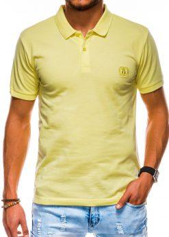 Geltoni polo marškinėliai vyrams internetu pigiau S1048 13253-1