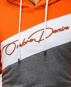 Oranžinis džemperis vyrams su gobtuvu internetu pigiau B937 13256-3