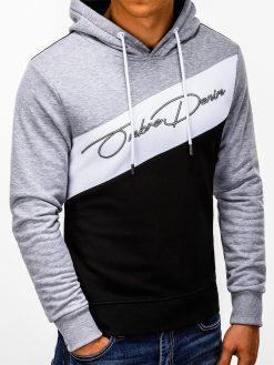 Pilkas vyriškas džemperis su gobtuvu internetu pigiau B937 13257-4