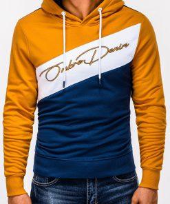 Geltonas vyriškas džemperis su gobtuvu internetu pigiau B937 13259-2