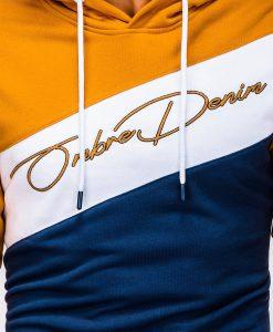 Geltonas džemperis vyrams su gobtuvu internetu pigiau B937 13259-3