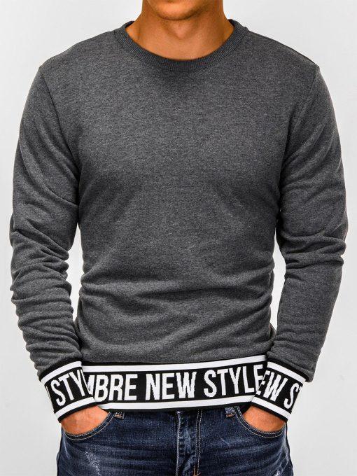 Pilkas vyriškas džemperis internetu pigiau B930 13263-2
