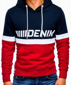 Raudonas džemperis vyrams su gobtuvu internetu pigiau B931 13266-2
