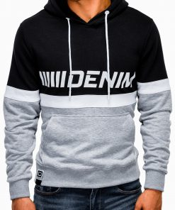 Pilkas vyriškas džemperis su gobtuvu internetu pigiau B931 13269-2