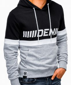 Pilkas džemperis vyrams su gobtuvu internetu pigiau B931 13269-4