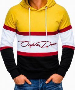 Geltonas vyriškas džemperis su gobtuvu internetu pigiau B932 13273-2