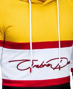 Geltonas džemperis vyrams su gobtuvu internetu pigiau B932 13273-5