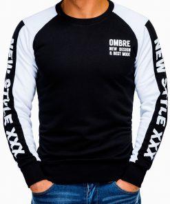 Juodas vyriškas džemperis su užrašu internetu pigiau B935 13279-2