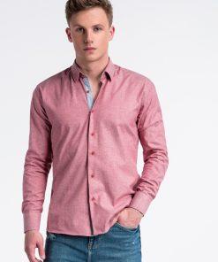 Raudoni marškiniai vyrams internetu pigiau K487 13284-3