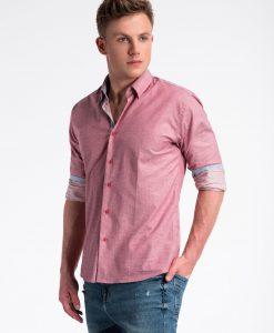 Raudoni vyriški marškiniai internetu pigiau K487 13284-4
