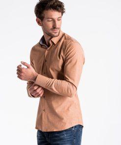 Rudi marškiniai vyrams internetu pigiau K487 13288-3