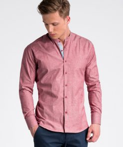 Raudoni marškiniai vyrams internetu pigiau K488 13289-3