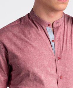 Raudoni vyriški marškiniai internetu pigiau K488 13289-5
