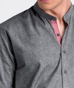 Tamsiai pilki vyriški marškiniai internetu pigiau K488 13290-1